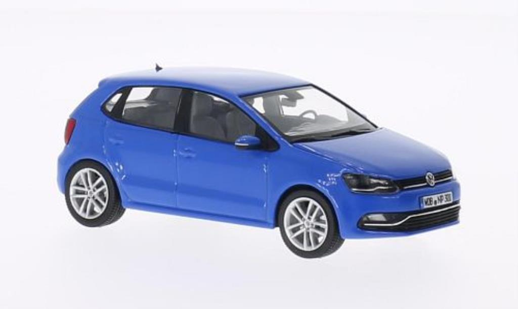 volkswagen polo miniature v 6c bleu 5 turer 2014 herpa 1 43 voiture. Black Bedroom Furniture Sets. Home Design Ideas
