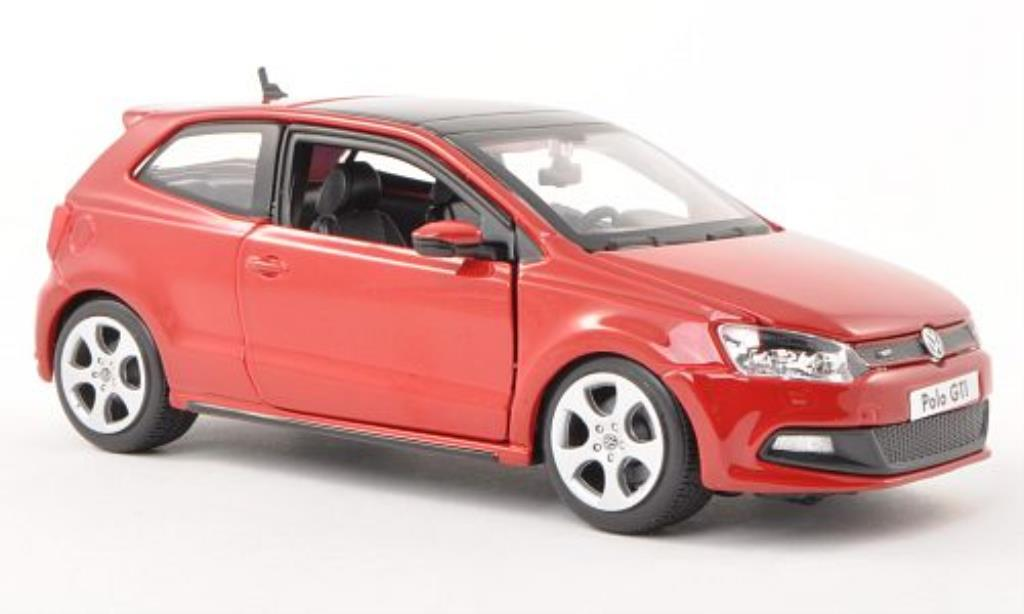 volkswagen polo miniature v gti rouge burago 1 24 voiture. Black Bedroom Furniture Sets. Home Design Ideas
