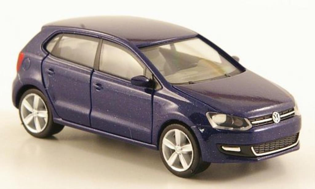 volkswagen polo v blau 5 turig herpa modellauto 1 87 kaufen verkauf modellauto online. Black Bedroom Furniture Sets. Home Design Ideas