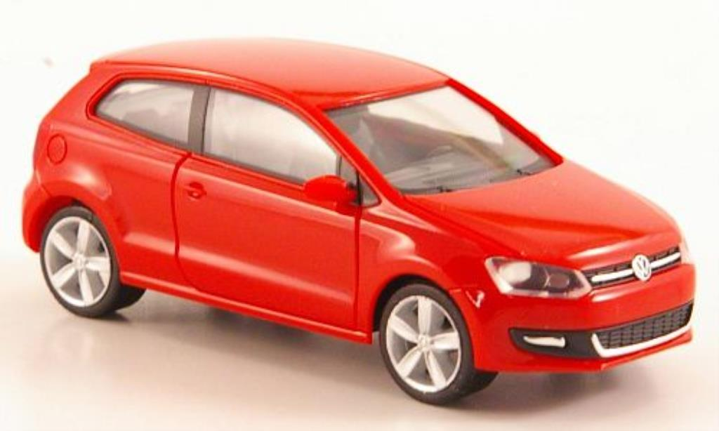 Volkswagen Polo 1/87 Herpa V rouge 3-turig miniature