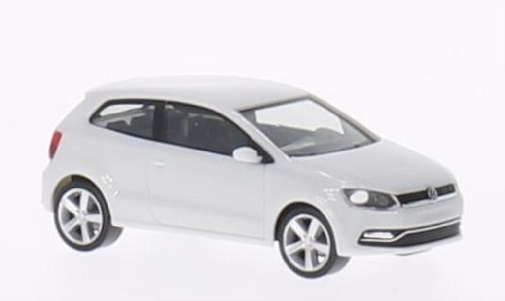 volkswagen polo miniature v typ 6c 3 turig blanche 2014 herpa 1 87 voiture. Black Bedroom Furniture Sets. Home Design Ideas