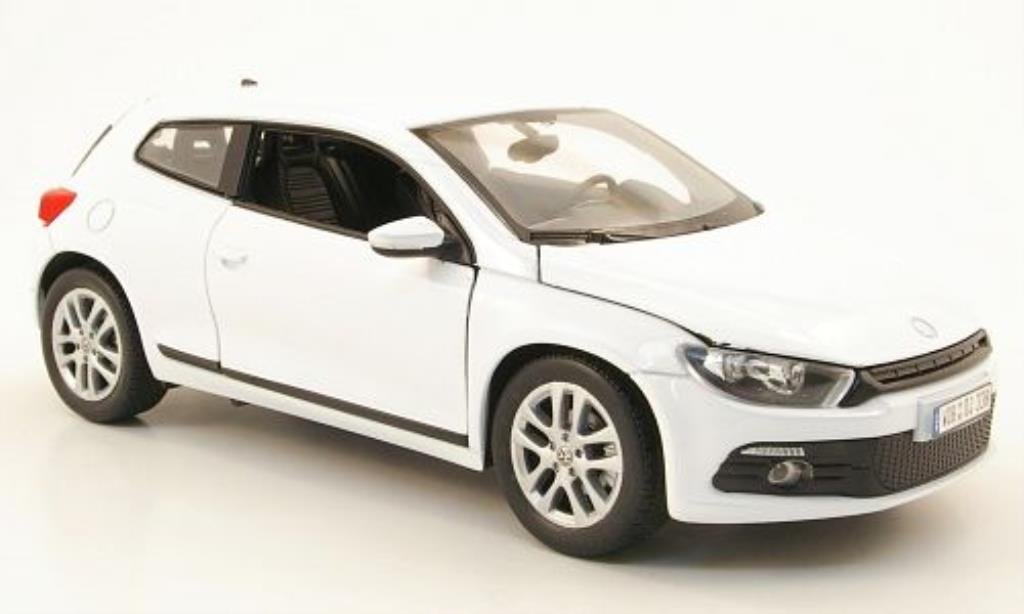 volkswagen scirocco 3 white welly diecast model car 1 24. Black Bedroom Furniture Sets. Home Design Ideas