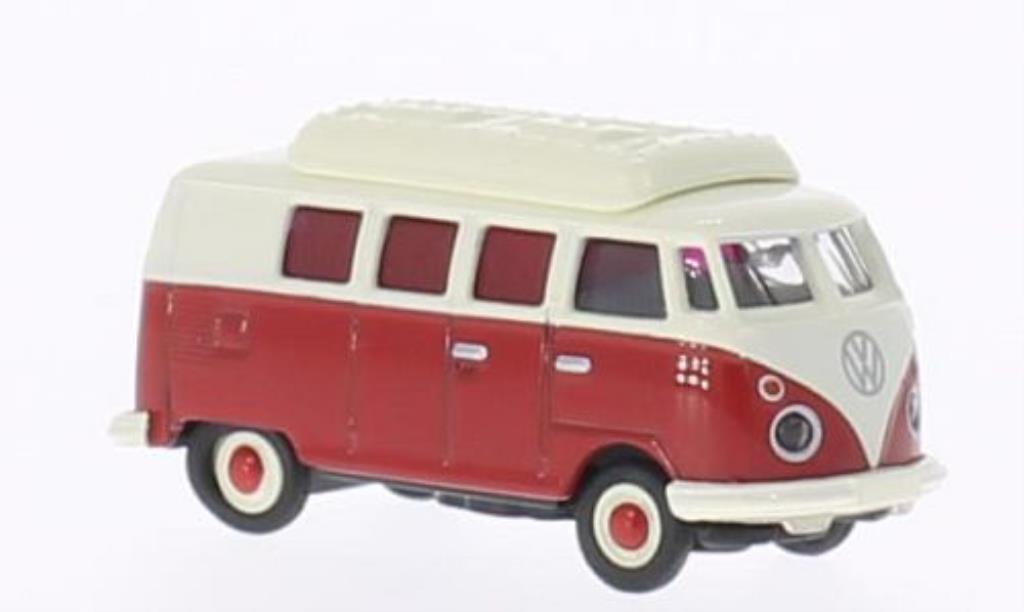 Volkswagen T1 1/87 Schuco Bus Camper rouge/blanche miniature