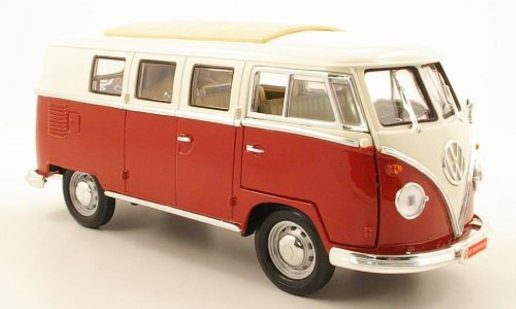 volkswagen t1 bus rot weiss 1962 mcw modellauto 1 18 kaufen verkauf modellauto online. Black Bedroom Furniture Sets. Home Design Ideas