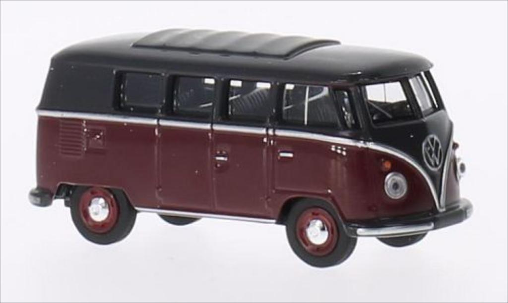 Volkswagen T1 1/64 Schuco Bus red/grey diecast model cars