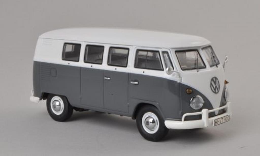 volkswagen t1 bus grau weiss mcw modellauto 1 43 kaufen verkauf modellauto online. Black Bedroom Furniture Sets. Home Design Ideas