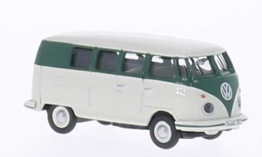 Volkswagen T1 1/87 Schuco Bus grise/verte miniature