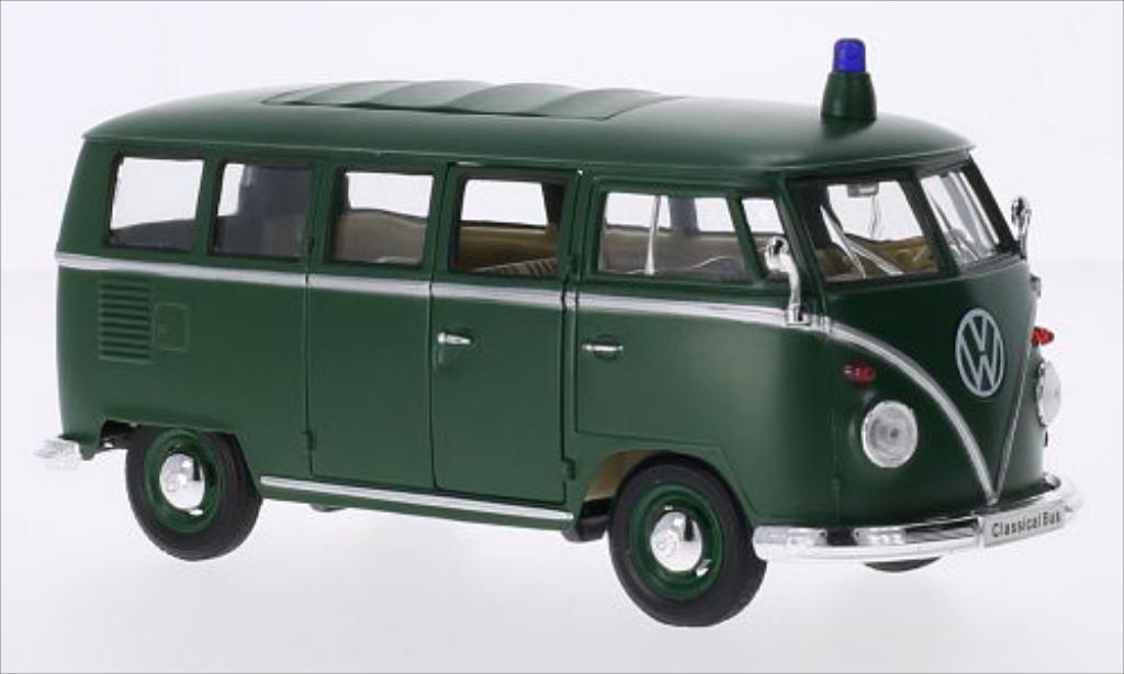 Volkswagen T1 1/24 Welly Bus matt-verte Polizei 1962 miniature