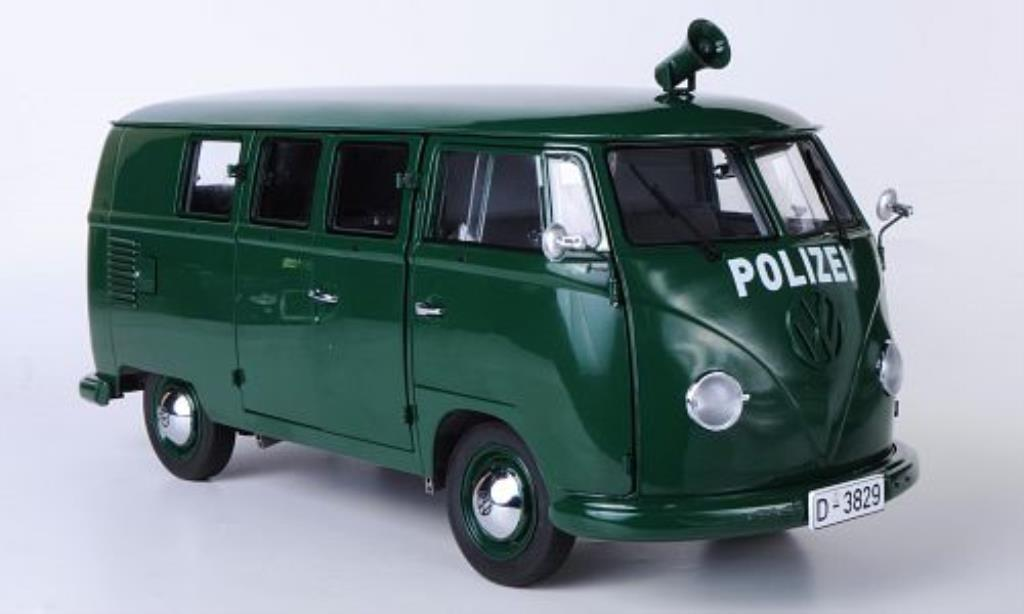 volkswagen t1 bus polizei grun mcw modellauto 1 12 kaufen verkauf modellauto online. Black Bedroom Furniture Sets. Home Design Ideas