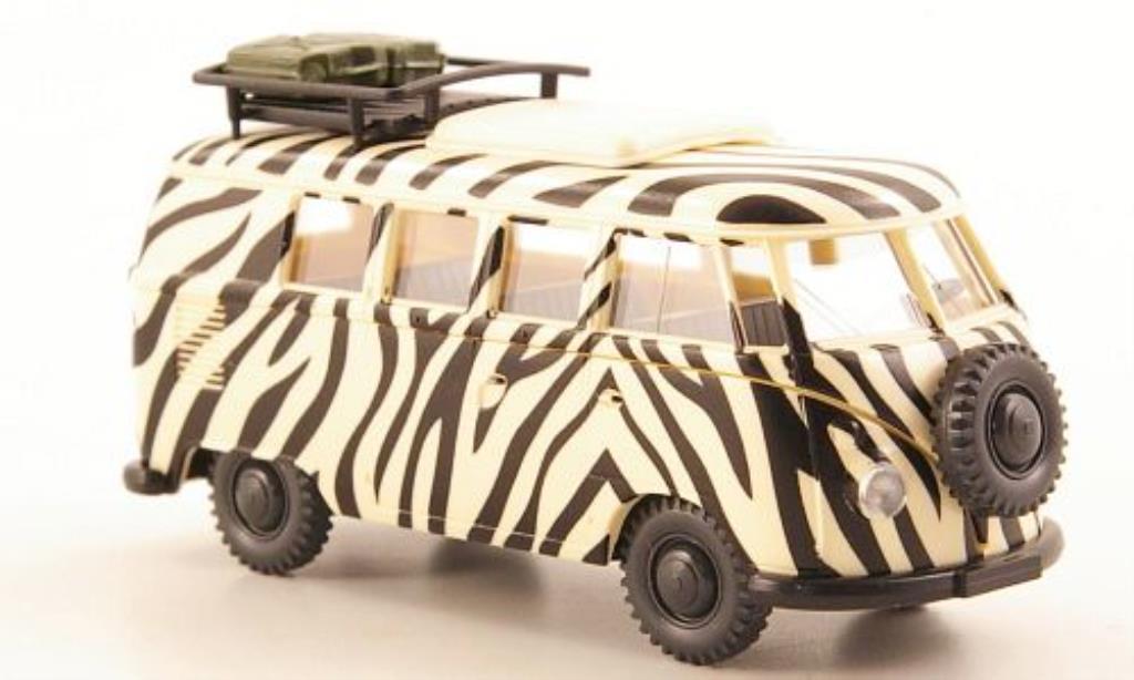 Volkswagen T1 1/87 Wiking Campingbus Safari Zebraoptik modellautos