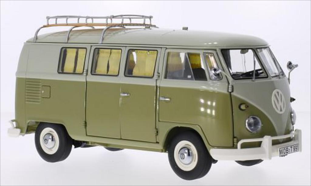 Volkswagen T1 1/18 Schuco grun/grun 1959 miniature