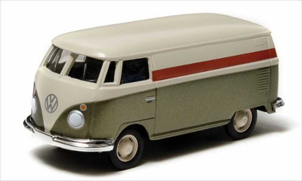 Volkswagen T1 1/64 Greenlight Kastenwagen beige/gold modellautos