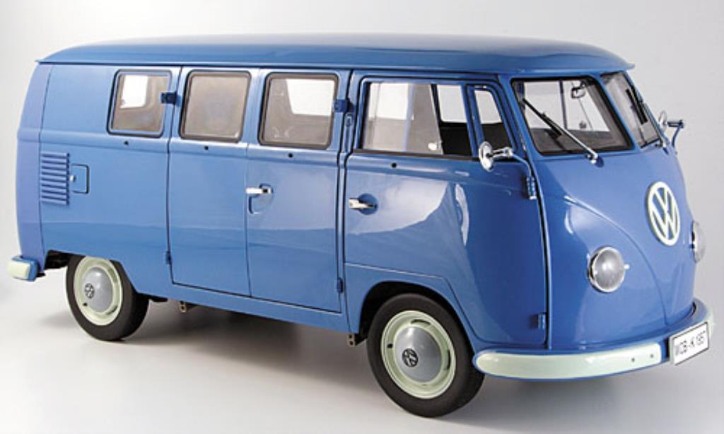 volkswagen t1 kombi bus blue 1957 mcw diecast model car 1. Black Bedroom Furniture Sets. Home Design Ideas