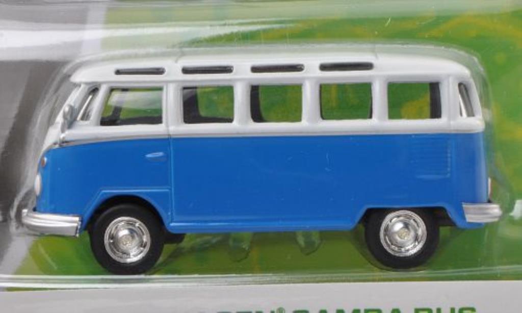 Volkswagen T1 1/64 Greenlight Samba bleu/blanche miniature