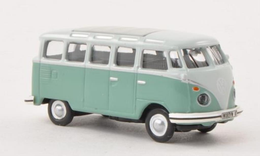 Volkswagen T1 1/87 Schuco Samba grise-grun/grise miniature