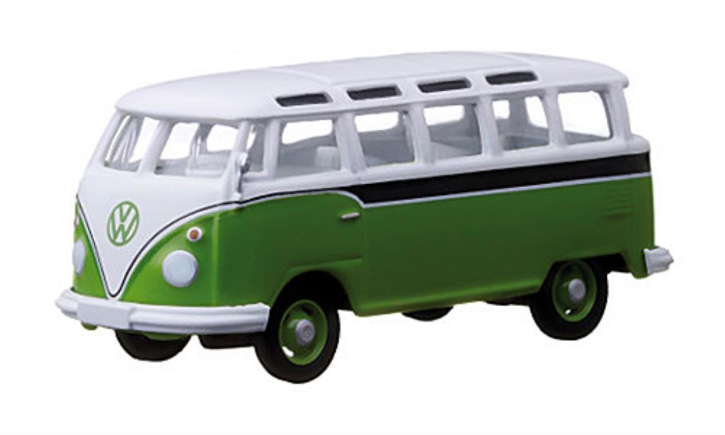 Volkswagen T1 1/64 Greenlight Samba grun/weiss/schwarz modellautos