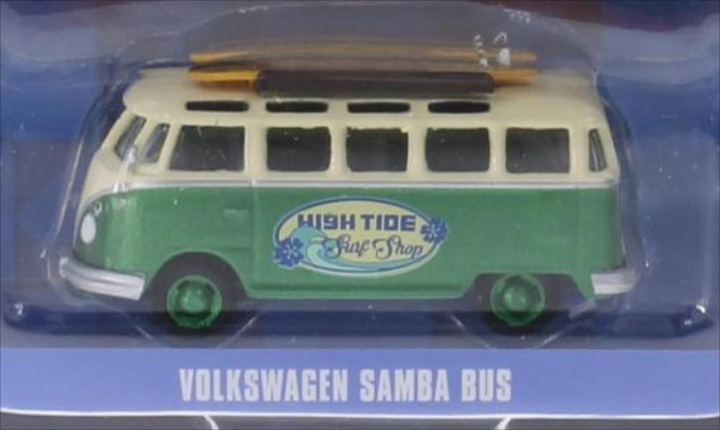 Volkswagen T1 Samba High Tide Surf Shop Greenlight. Volkswagen T1 Samba High Tide Surf Shop miniature 1/64