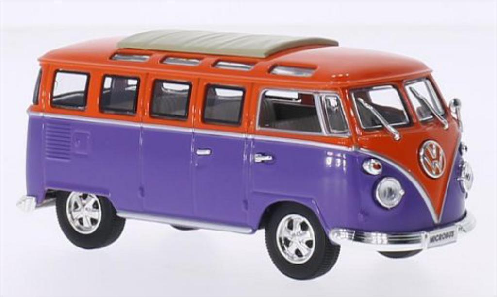 volkswagen t1 samba lila orange 1962 mcw modellauto 1 43 kaufen verkauf modellauto online. Black Bedroom Furniture Sets. Home Design Ideas