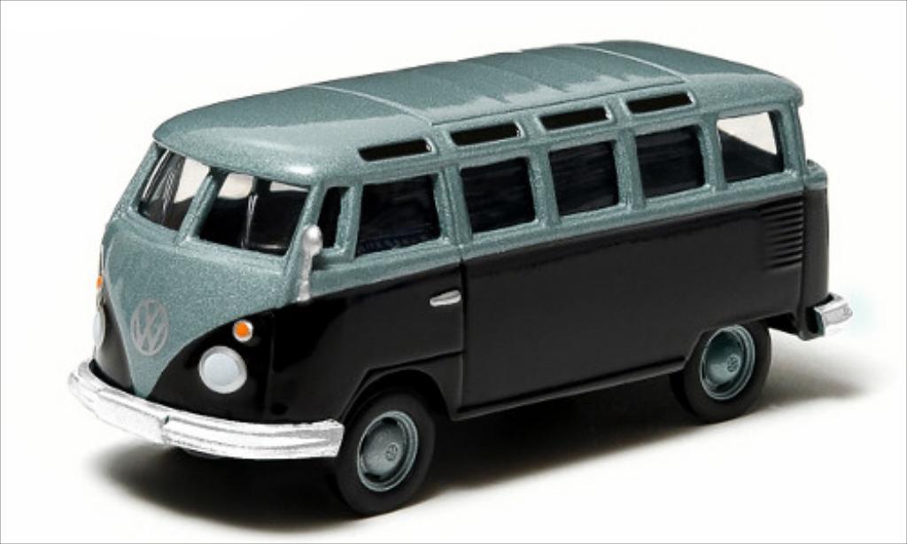 Volkswagen T1 1/64 Greenlight Sambabus metallise bleu/bleu miniature