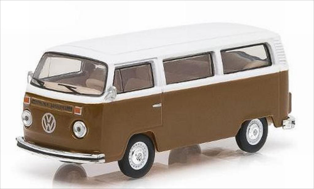 Volkswagen T2 1/64 Greenlight Bus Champagne Edition marron/blanche 1977 miniature