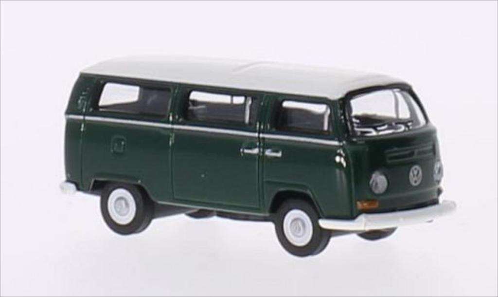 Miniature Volkswagen T2 Bus dunkelverte/blanche Schuco. Volkswagen T2 Bus dunkelverte/blanche miniature 1/87
