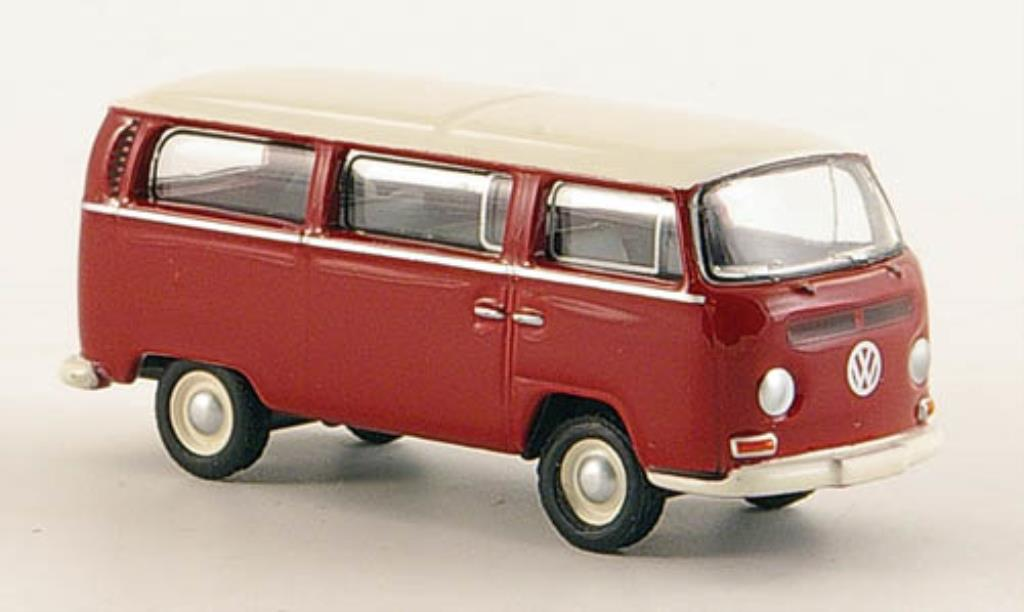 Volkswagen T2 1/87 Bub Bus L rouge/blanche miniature