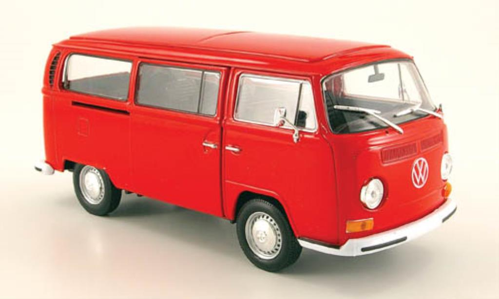 Volkswagen T2 1/24 Welly Bus red 1972 diecast model cars