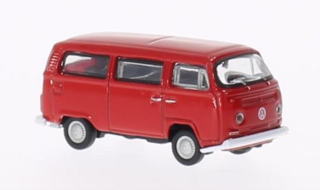 Volkswagen T2 1/87 Welly Bus red 1972 diecast model cars