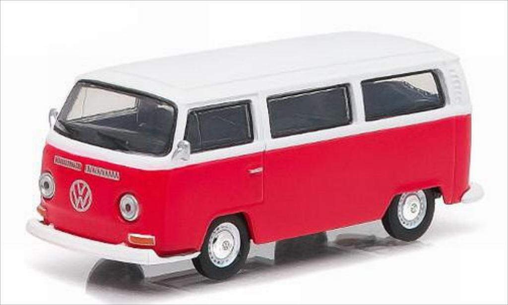 Volkswagen T2 1/64 Greenlight Bus rouge/blanche 1968 miniature