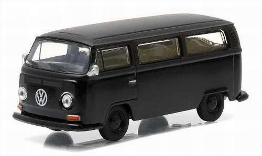 Volkswagen T2 1/64 Greenlight Bus noire/matt-noire 1968 miniature