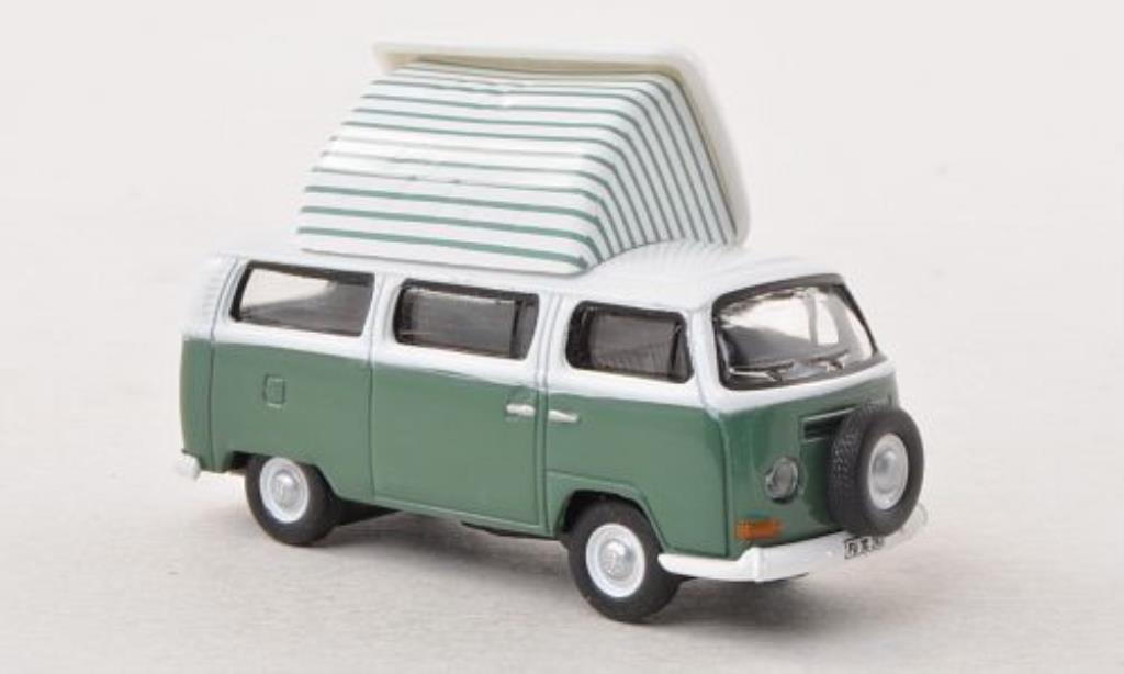 Volkswagen T2 1/87 Schuco Camper green/white diecast