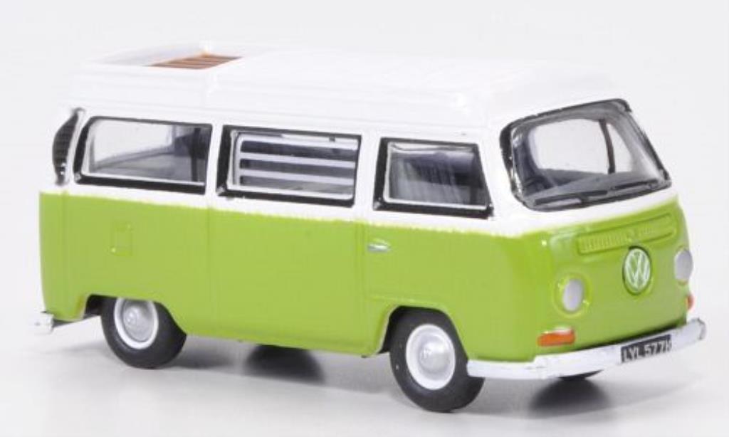 Volkswagen T2 1/76 Oxford Camper grun/blanche miniature