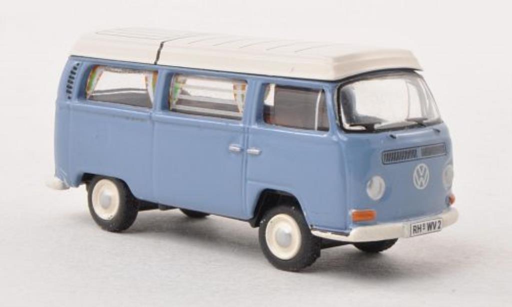 Volkswagen T2 1/87 Bub Camping bleu/white diecast