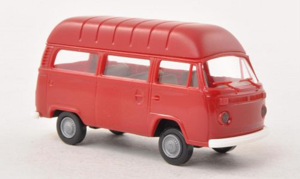 Volkswagen T2 1/87 Brekina Hochdach-Kombi rouge miniature