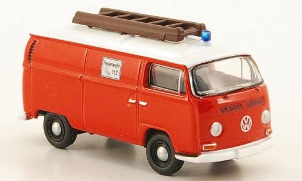Volkswagen T2 1/87 Bub Kasten Feuerwehr rouge/blanche miniature