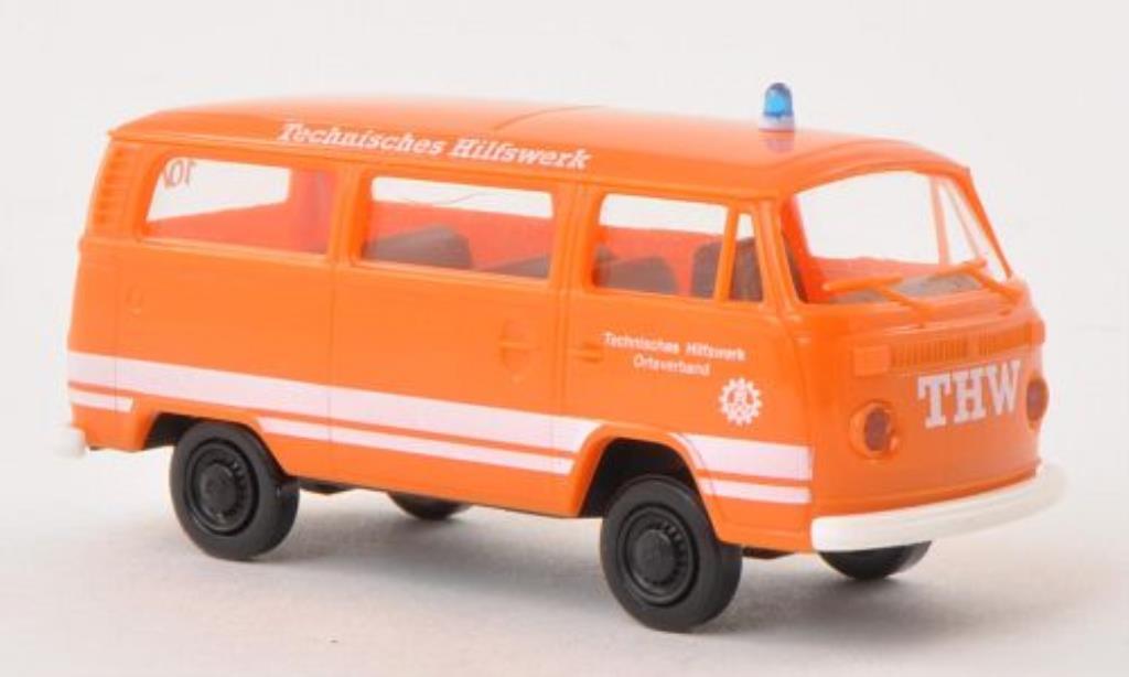 Volkswagen T2 1/87 Brekina Kombi THW orange miniature