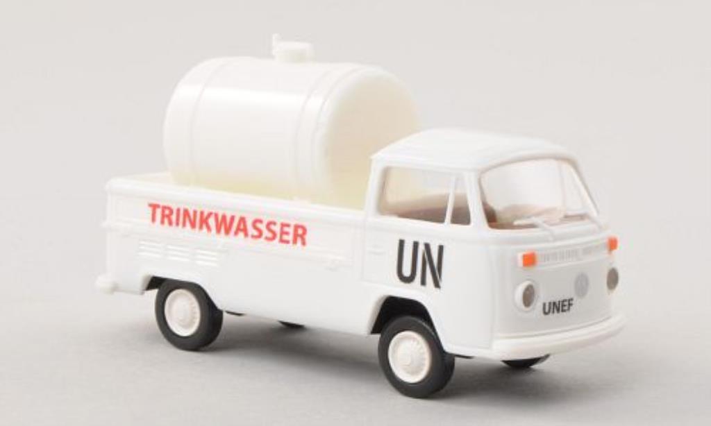 Volkswagen T2 1/87 Brekina Pritsche UN - Trinkwasser mit Ladegut