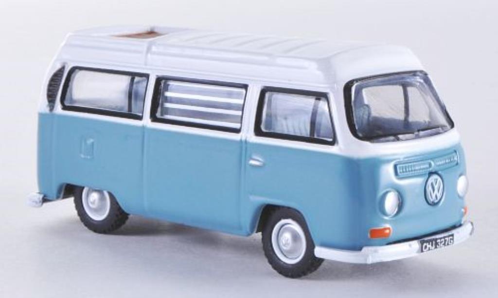 Volkswagen T2 1/76 Oxford Westfalia Camper graybleu/white RHD diecast