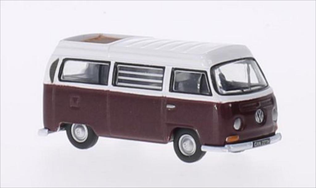 Volkswagen T2 1/76 Oxford Westfalia metallise rouge/blanche RHD miniature