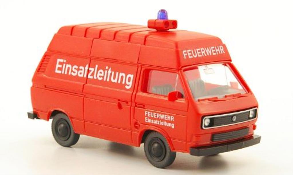 Volkswagen T3 Hochdachkasten Feuerwehr Einsatzleitung Wiking. Volkswagen T3 Hochdachkasten Feuerwehr Einsatzleitung Pompier modellauto