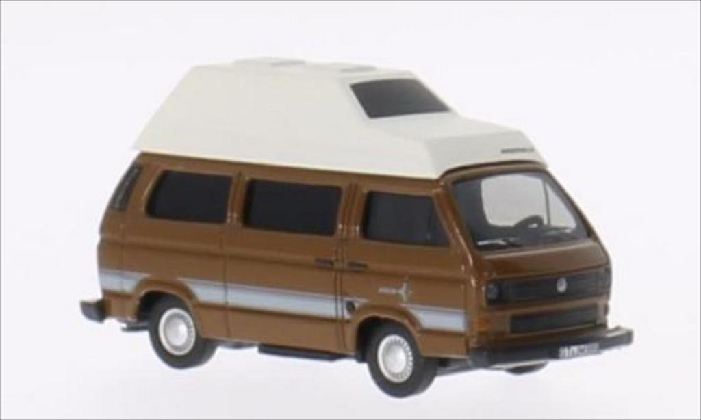 Volkswagen T3 1/87 Schuco Westfalia Joker marron/blanche miniature
