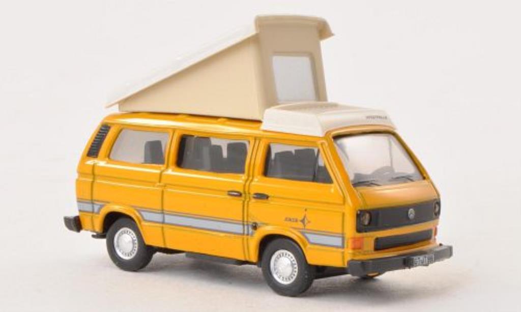 Volkswagen T3 1/87 Schuco Westfalia Joker jaune/blanche miniature