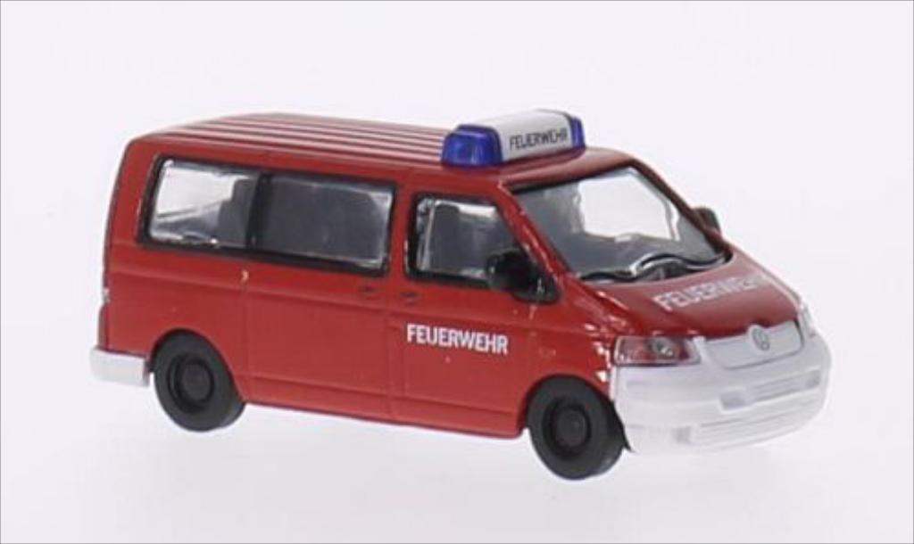 Miniature Volkswagen T5 Bus Feuerwehr Schuco. Volkswagen T5 Bus Feuerwehr miniature 1/87