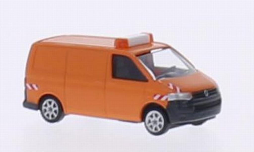 Volkswagen T5 1/160 Wiking Kasten orange Kommunaldienst miniature