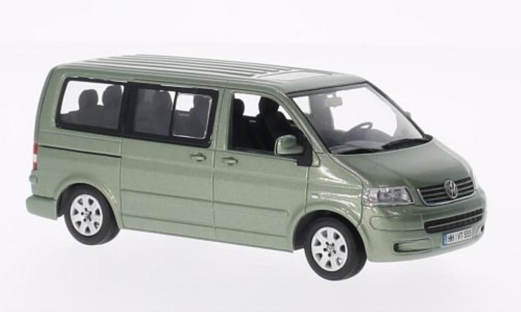 Volkswagen T5 1/43 Minichamps Multivan grisegrun 2003 miniature