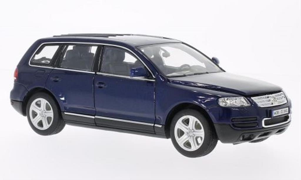 Volkswagen Touareg 1/24 Welly bleu 2002 miniature