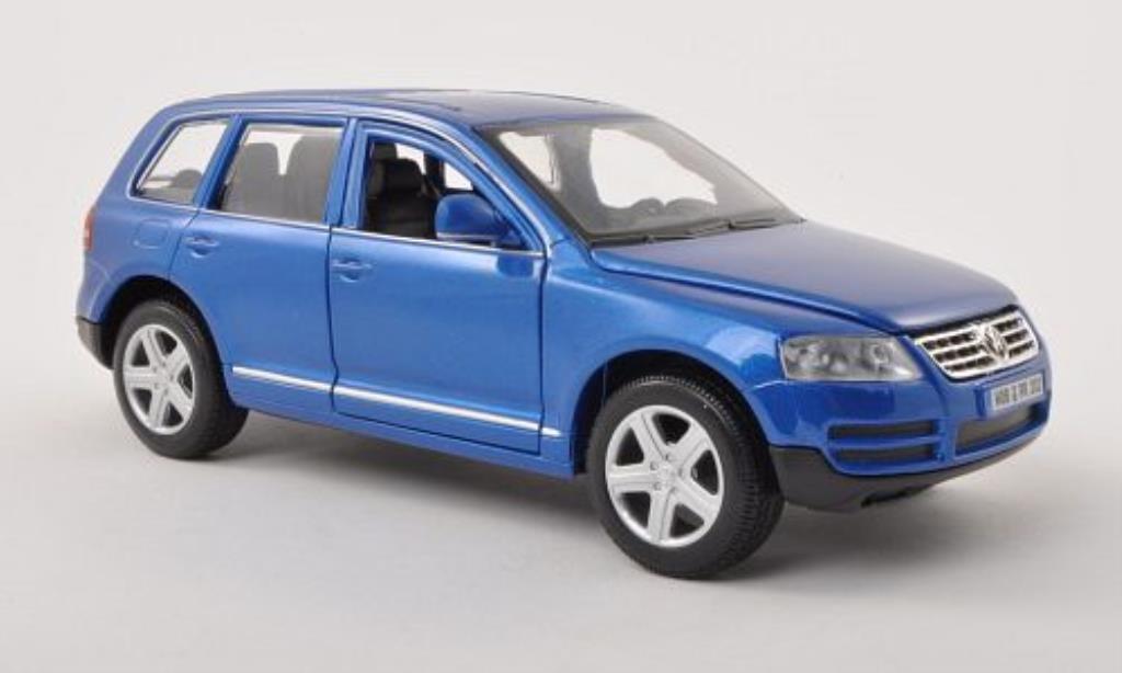 Volkswagen Touareg 1/24 Burago I bleu miniature