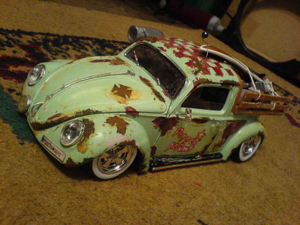 Volkswagen Kafer 1/18 Burago coxinelle rat style