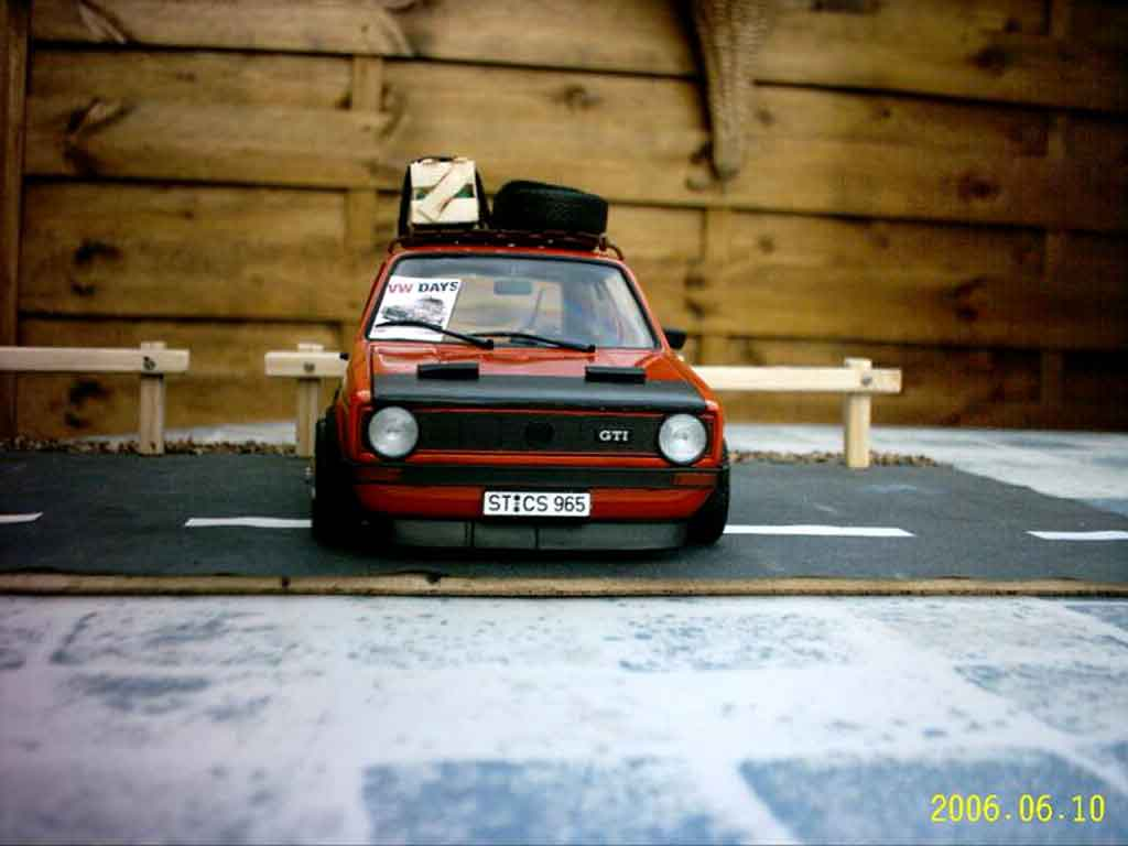 Volkswagen Golf 1 GTI 1/18 Solido german old school tuning miniature