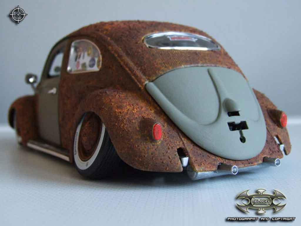 Volkswagen Kafer 1/18 Burago rat added rust